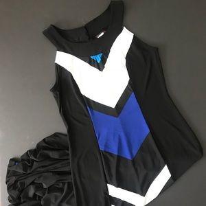 Cocomo poly spandex color block maxi dress